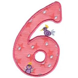 Funky Applique Numbers 6