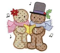 Gingerbreads Applique 12