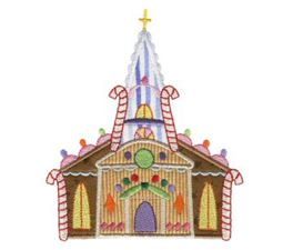 Gingerbread Village Applique 1