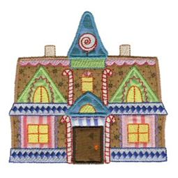 Gingerbread Village Applique 10