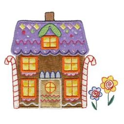 Gingerbread Village Applique 3