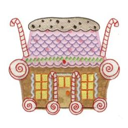 Gingerbread Village Applique 4
