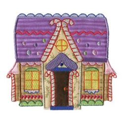 Gingerbread Village Applique 6