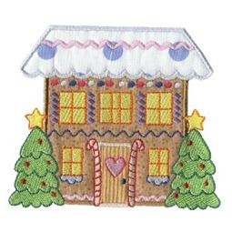 Gingerbread Village Applique 8