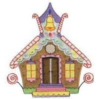 Gingerbread Village Applique 5x7