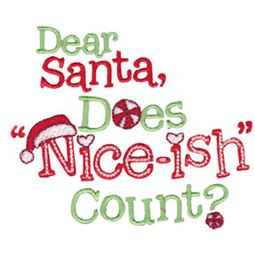 Dear Santa Does Niceish Count