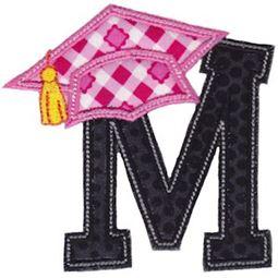 Graduation Alphabet Applique 13