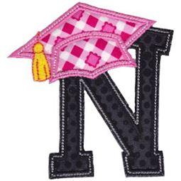 Graduation Alphabet Applique 14