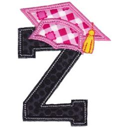 Graduation Alphabet Applique 26