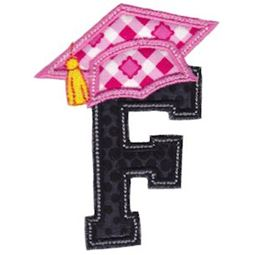 Graduation Alphabet Applique 6