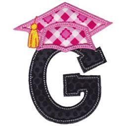Graduation Alphabet Applique 7