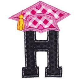 Graduation Alphabet Applique 8