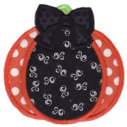 Applique Pumpkin With Bow