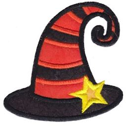 Applique Striped Witches Hat
