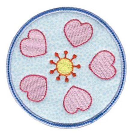 Hearts And Circles Applique 9