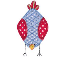 Here Birdy Applique 1