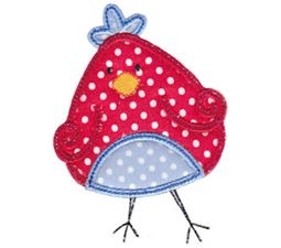 Here Birdy Applique 12