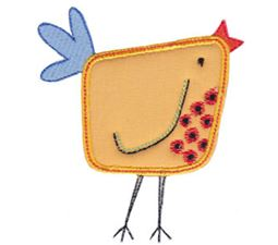 Here Birdy Applique 14