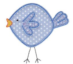 Here Birdy Applique 3