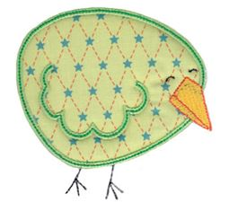 Here Birdy Applique 6