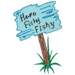 Here Fishy Applique 12