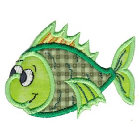 Here Fishy Applique 4