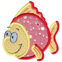 Here Fishy Applique 8