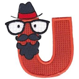 Hipster Boys Alpha Applique U