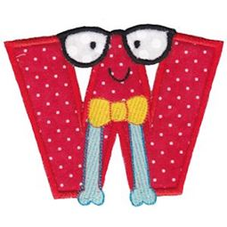 Hipster Boys Alpha Applique W