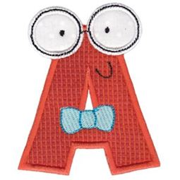 Hipster Boys Alpha Applique A