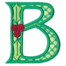 Holly Alpha Applique Capital B