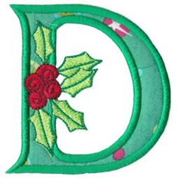 Holly Alpha Applique Capital D
