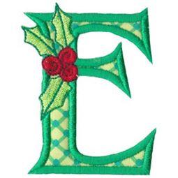 Holly Alpha Applique Capital E