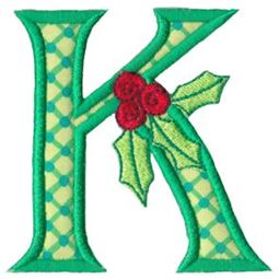 Holly Alpha Applique Capital K