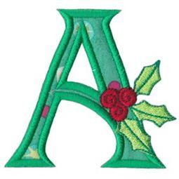 Holly Alpha Applique Capital A