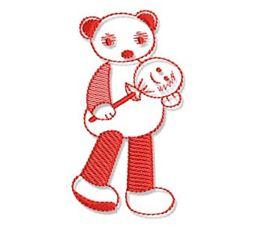 Kiddies Redwork 5
