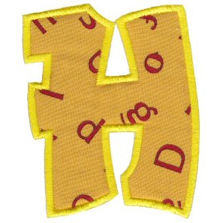 Kids Alpha Applique H