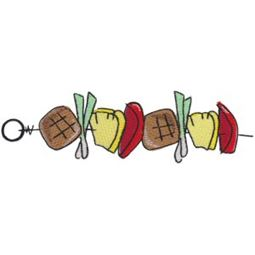 Meat and Pineapple Skewer