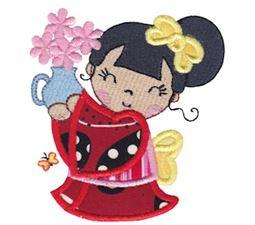 Kokeshi Dolls Applique 1