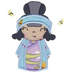 Kokeshi Dolls Applique 11