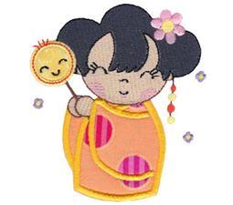Kokeshi Dolls Applique 12