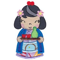 Kokeshi Dolls Applique 3