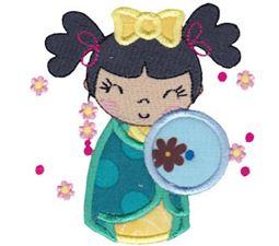 Kokeshi Dolls Applique 6