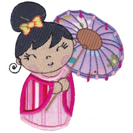Kokeshi Dolls Applique 8