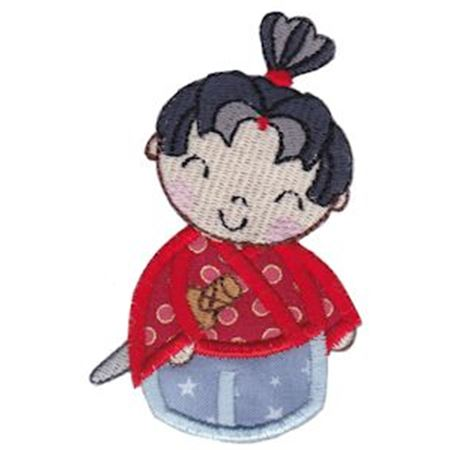 Kokeshi Dolls Boys Applique 1