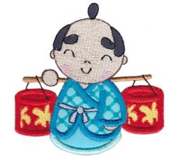 Kokeshi Dolls Boys Applique 4