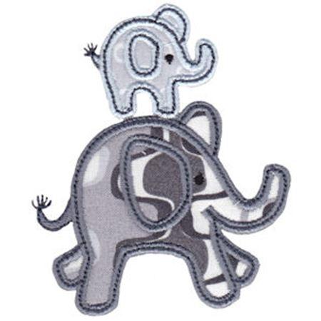 Little Elephant Applique 16