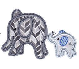 Little Elephant Applique 18
