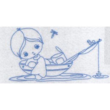 Little Fisherman Redwork 10