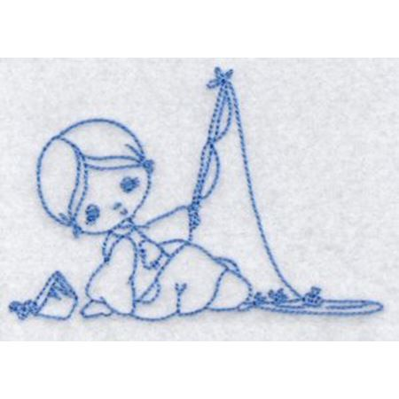 Little Fisherman Redwork 9